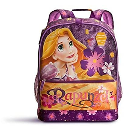1b1911f258e Image Unavailable. Image not available for. Color  Disney Exclusive Purple  Floral Tangled Rapunzel Pascal School Backpack