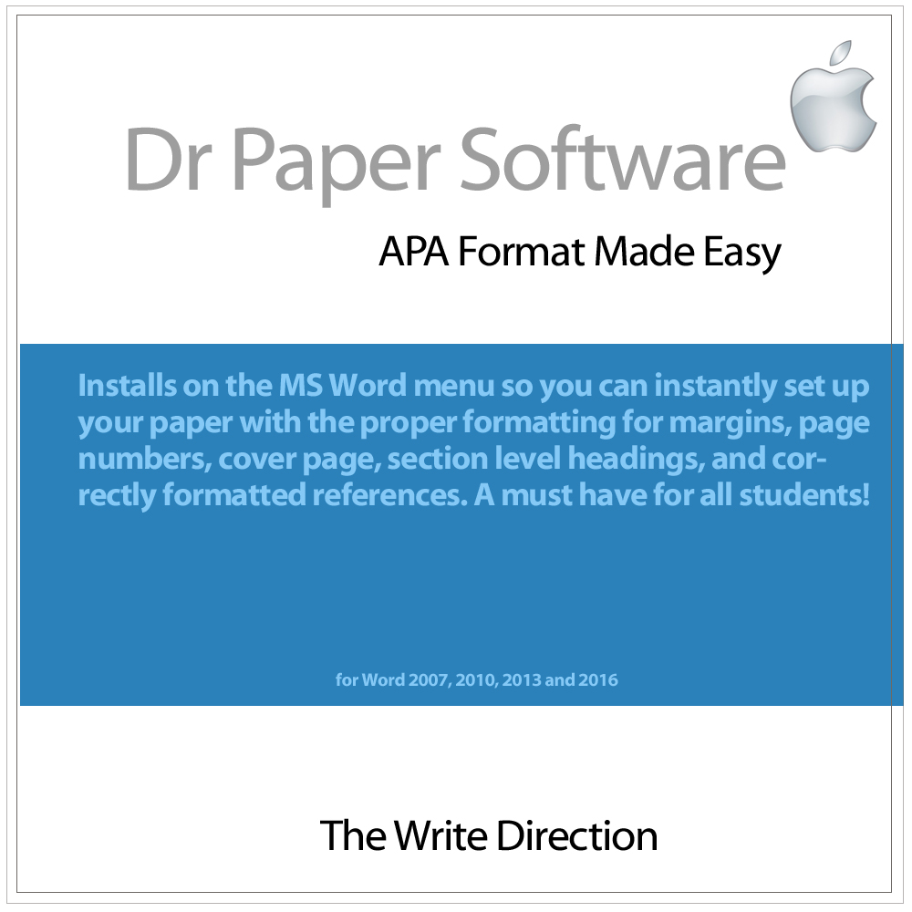 Dr Paper Software: APA Format Made Easy (Mac) [Download]