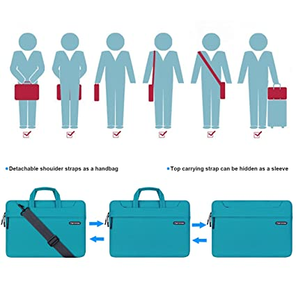 Amazon.com: Cartinoe Laptop Shoulder Bag 11 inch, 11.6 Inch Laptop Briefcase Tablet Protective Bag Water Repellent Computer Sleeve Case Messenger Bag for ...