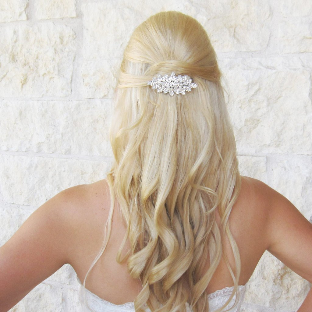Naomi Marquise Rhinestone Wedding Hair Comb by Ladorn