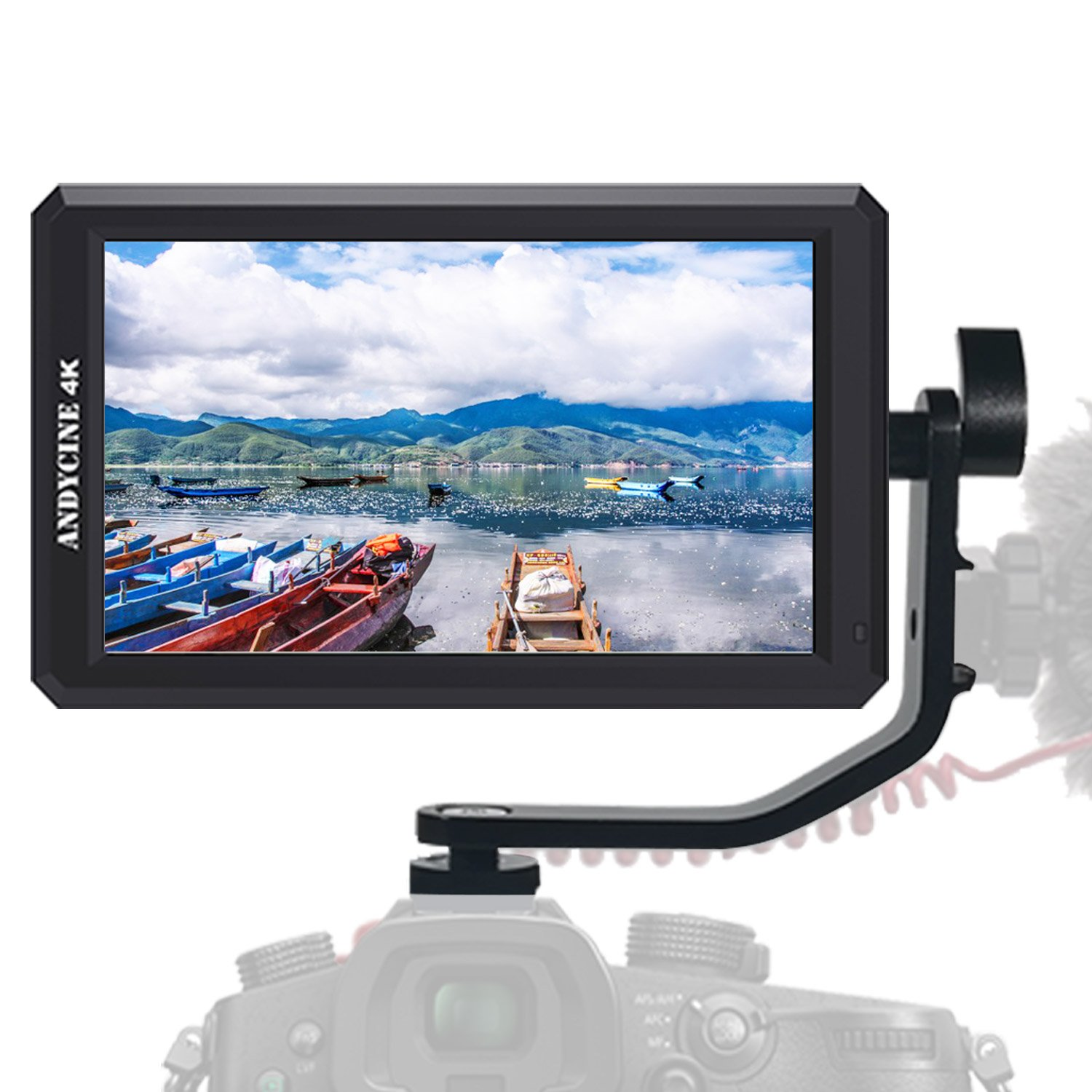ANDYCINE A6 5.7Inch 1920x1080 IPS DSLR HDMI Field Video Monitor With DC 8V Power Output Support 4K HDMI Signal for Sony A6 A7 Series GH4 GH5,,Cannon 5D Series Zhiyun Feiyu Moza Gimbals by ANDYCINE