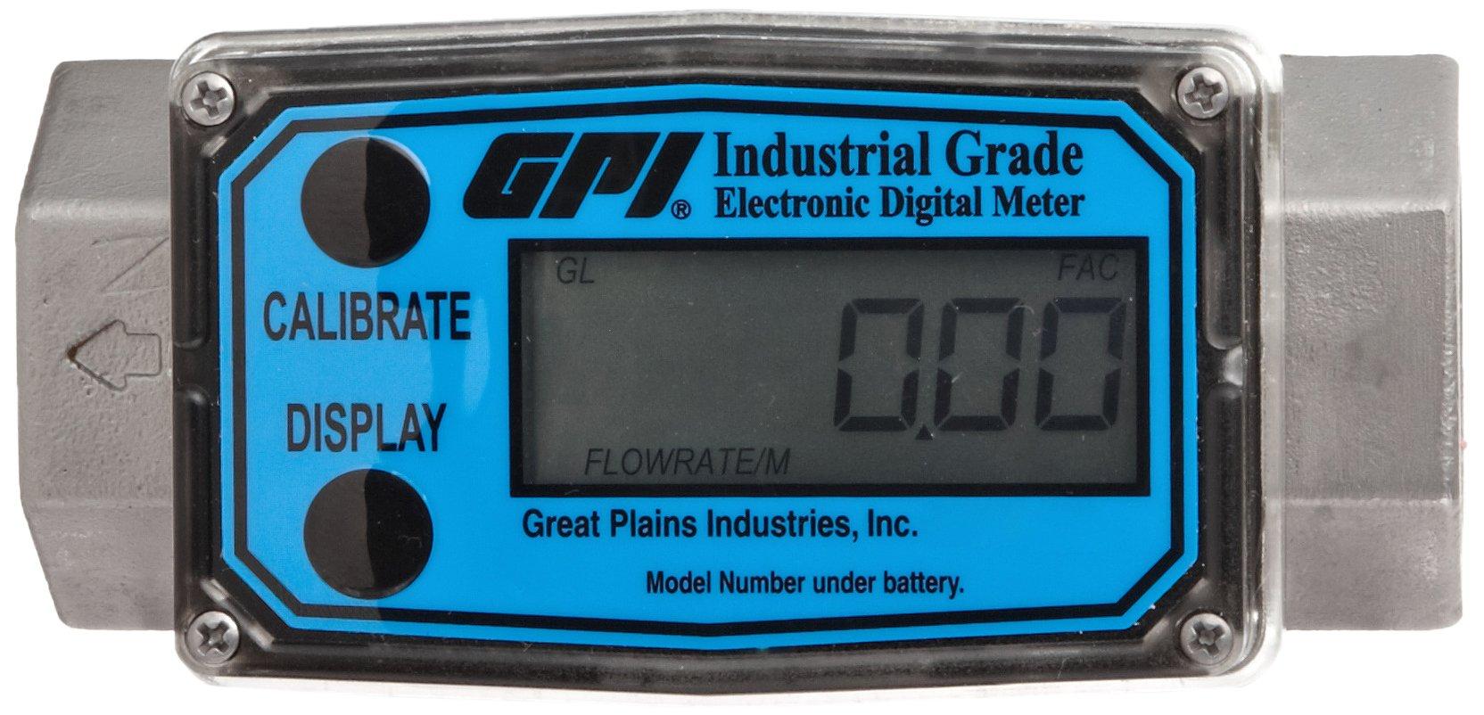 FLOMEC G2S10N09GMA, G2 Stainless Steel Turbine Flowmeter 1-Inch FNPT, 5-50 GPM FNPT, +/-1.0 Percent Accuracy