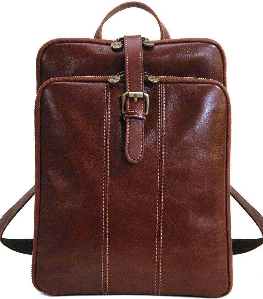 Venezia Full Grain Leather Knapsack Backpack Satchel