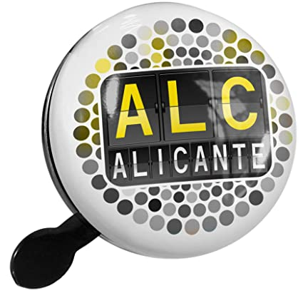 NEONBLOND Bike Bell ALC Airport Code for Alicante Scooter or Bicycle Horn