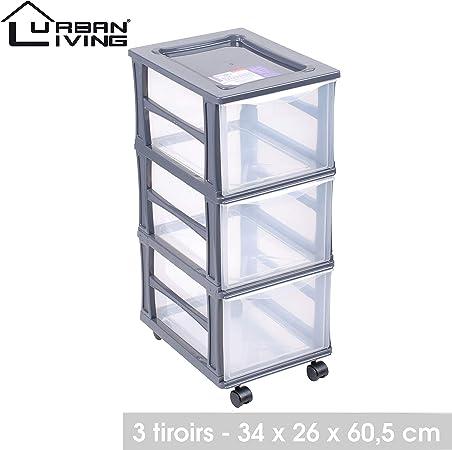 Lifetime Colonne Plastique 3 Tiroirs Box Casier De Rangement Caisse Sur Roue Roulette Pour Bureau Ou Salon Amazon Fr Cuisine Maison