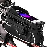 TXG Bicicletas Bolsa de teléfono Celular IP65 Impermeable,Bicicleta Frontal de la Parte Superior del Tubo del Manillar MTB,Co