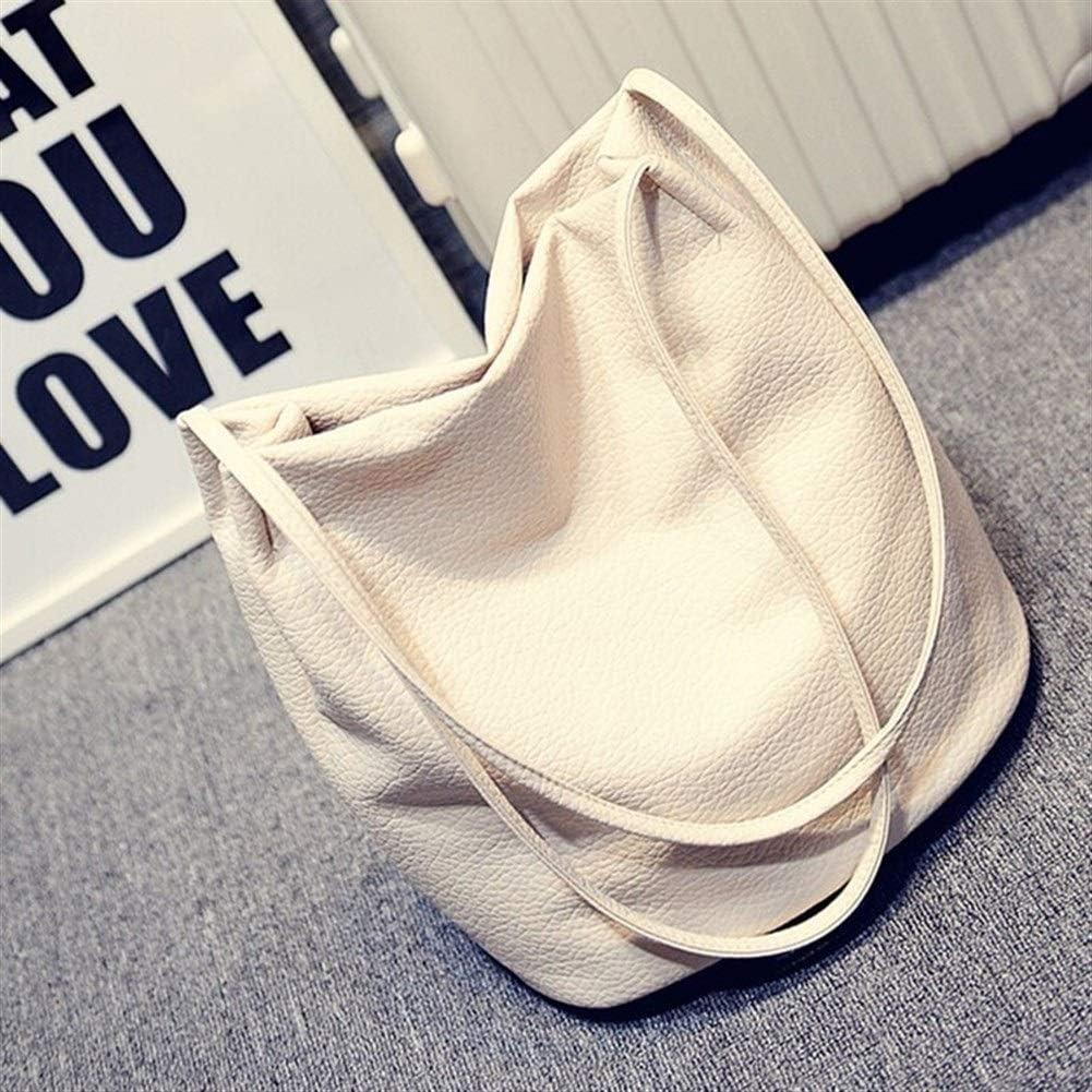 ERNANGUA Designer Women Leather Handbags Large Capacity Ladies Shopping Bag Black Bucket Shoulder Bags Ladies Crossbody Bags 50cm Max Length Color : Gray, Size : 30cm
