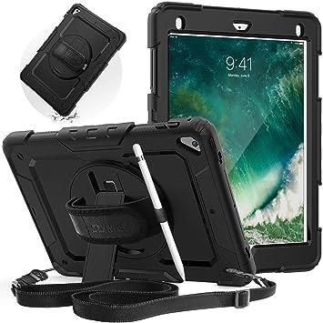 Amazon.com: SEYMAC Funda para iPad 2018/2017 9.7, carcasa de ...