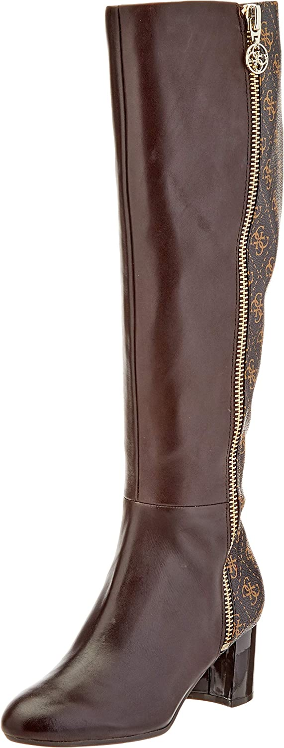 Guess Addaliz/Stivale (Boot)/Leather, Botas Altas para Mujer