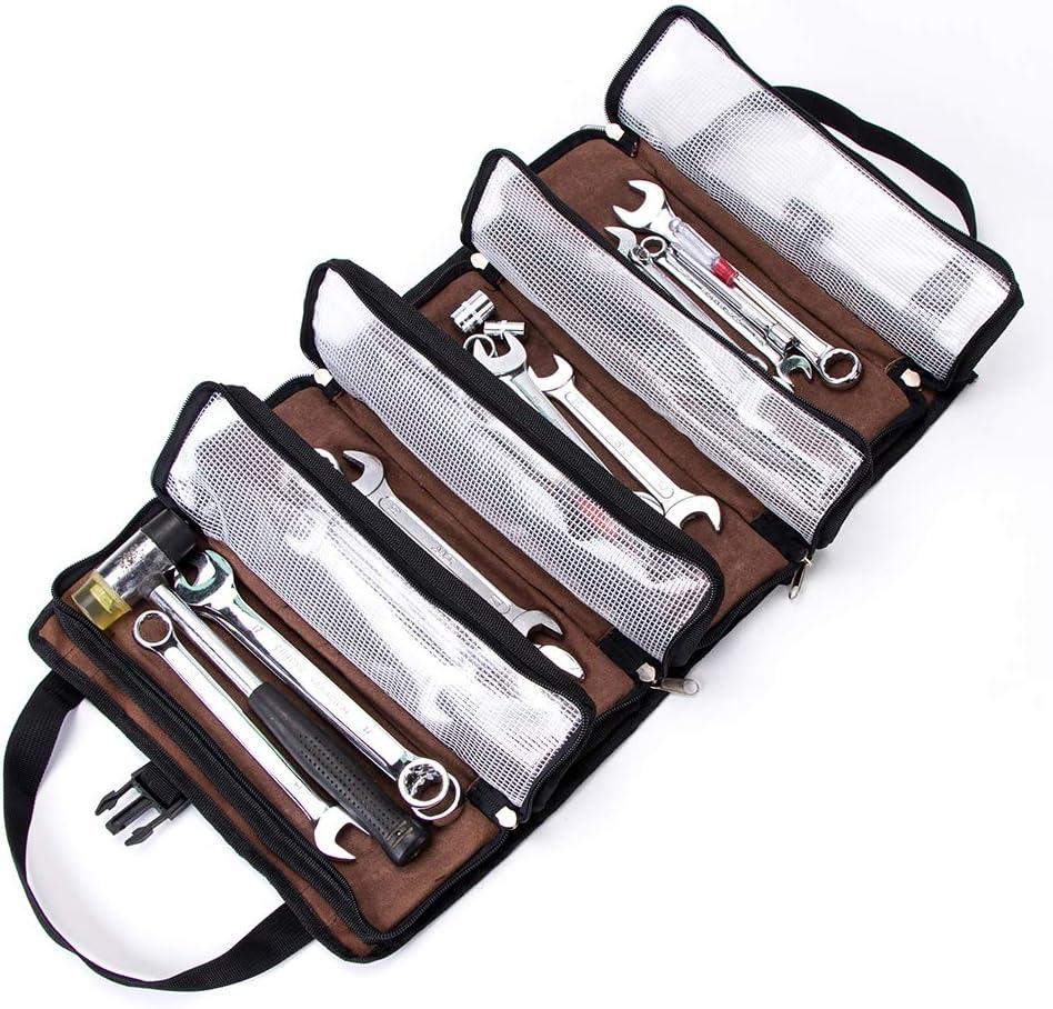 sac /à outils enroulable /équipement de camping hors route sangle de rangement seau /à outils en toile pochette /à outils Super Roll Pochette /à outils