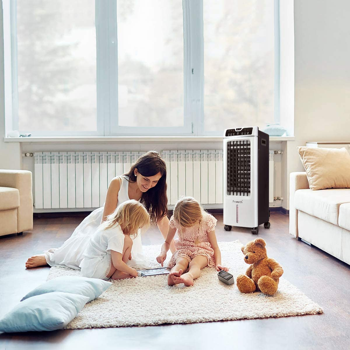 Portable Air Conditioner Suitable Home Office AC Conditioning for 125 Square Feet Quiet Mobile Air Cooler with Ice Tray /& Remote Control 7.5-Hour Timer Function Low Energy with Fan /& Humidifier