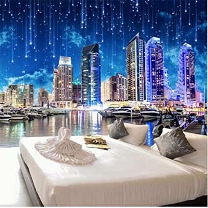 Amazon.com: hwhz Custom Mural 3D Wallpaper Hd Night City ...