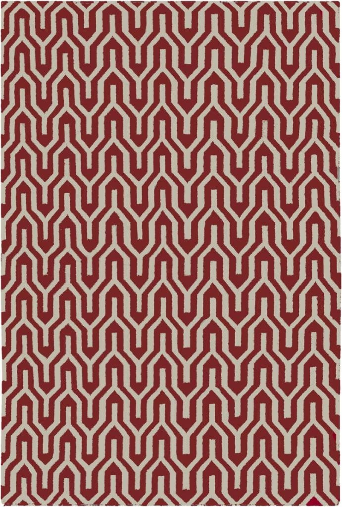 2'6'' x 8' Runner Surya Rug by Jill Rosenwald FAL1111-268 Turtledove Color Flatwoven in India ''Fallon Collection'' Geometric Pattern