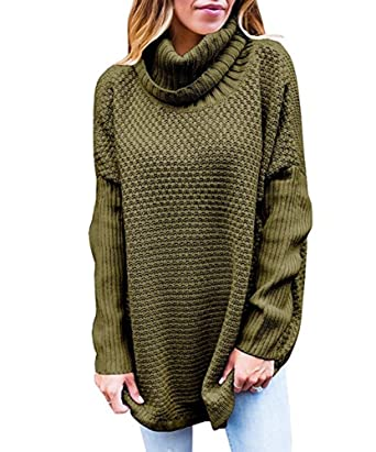 Maternity Cowl Neck Women Loose Sweater Knitted Baggy Pullover ...