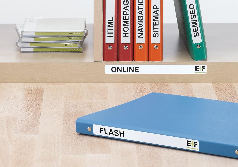 192 x 16,9 mm, esquinas redondeadas, especiales para archivadores Herma 5118 Paquete de 400 etiquetas adhesivas rectangulares color blanco mate