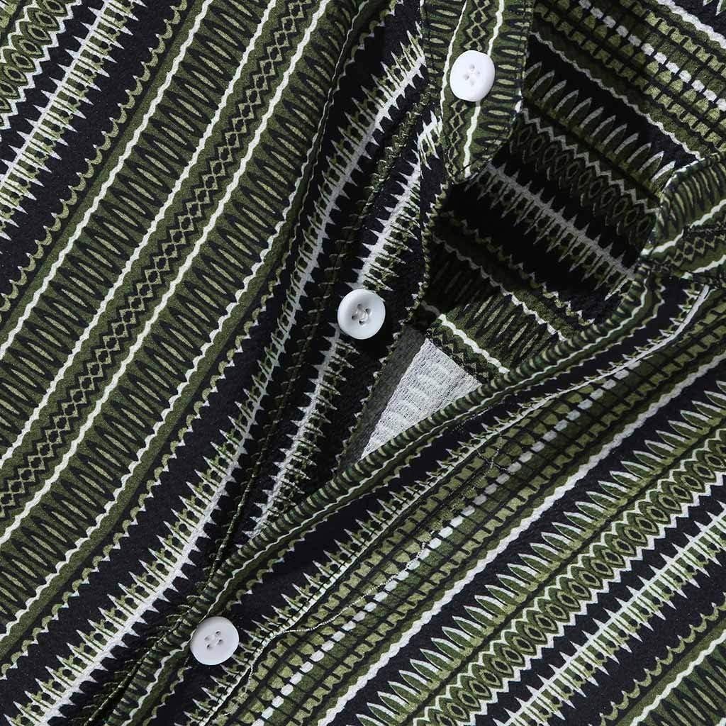 Funky Mens Classic Dress Shirt Regular Fit Vertical Striped Long Sleeve Button Down Shirts
