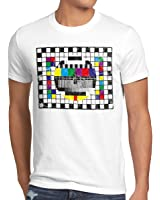 style3 Televisione Monoscopio T-shirt da uomo sheldon televisivo