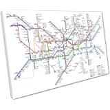 World map in the style of a tube metro subway underground system print on canvas print on canvas the underground london map tube lines white size91 gumiabroncs Images