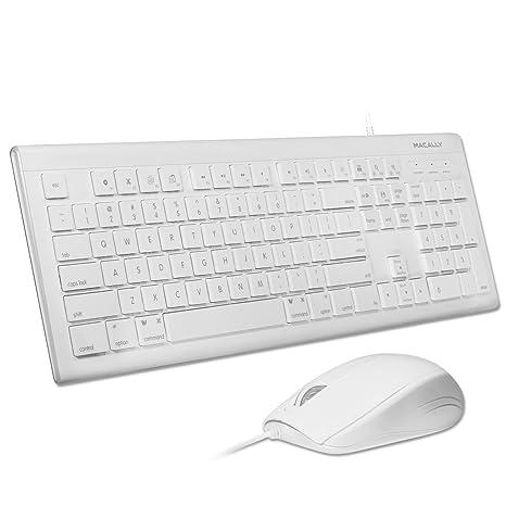 Macally MKEYECOMBO USB QWERTY Color Blanco - Teclado (USB, Universal, Interruptor mecánico, QWERTY, Alámbrico, Universal): Amazon.es: Informática