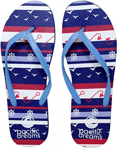 Marina Great Gift For People Who Love All Things Nautical Nautical Pattern Flip-Flops For Men /& Women