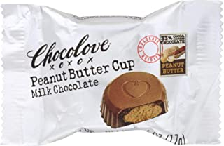 product image for Chocolove Xoxox Cup - Peanut Butter - Milk Chocolate - Case of 50 - .6 oz