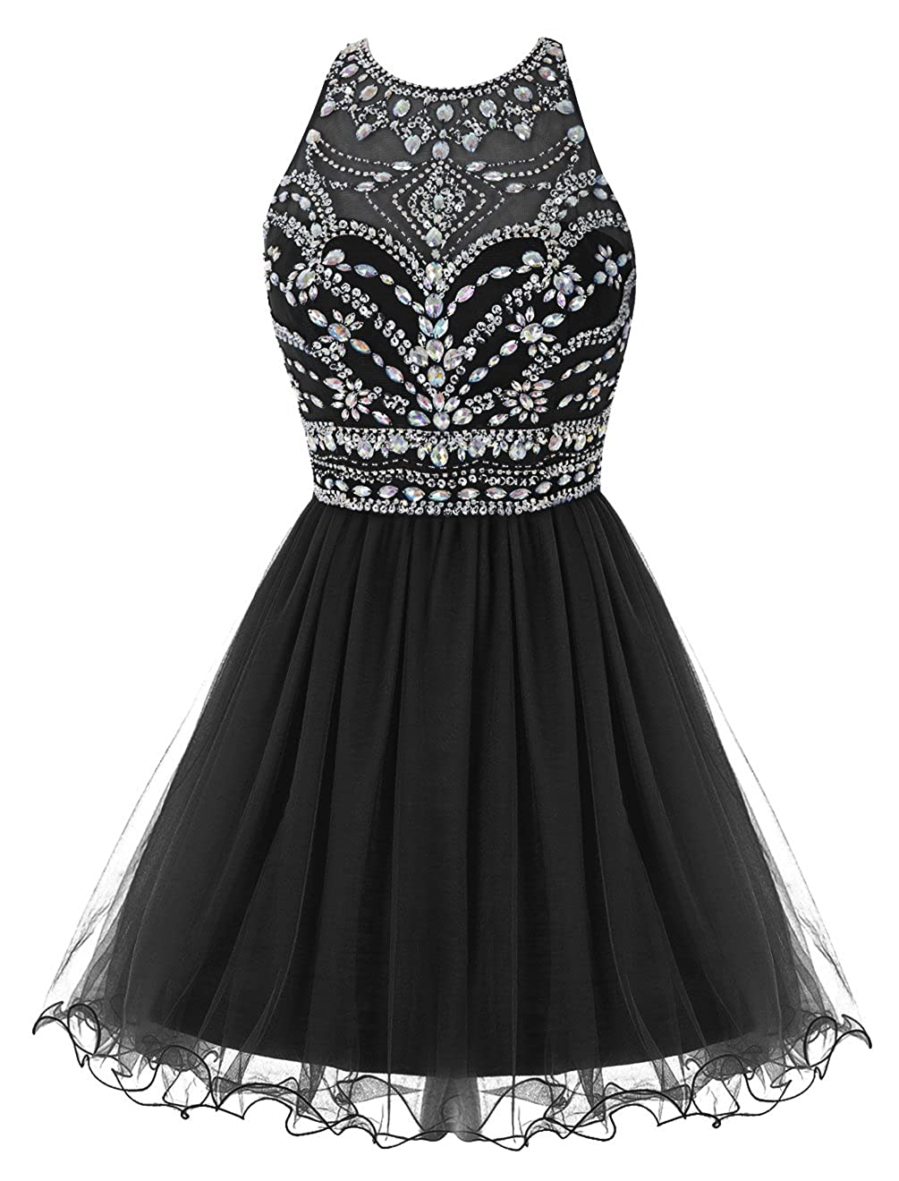 Amazon.com  Bbonlinedress Short Tulle Beaded Jewel Homecoming Dress Prom  Gown  Clothing 6acc88cd8