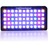 Lightimetunnel 165W Dimmable LED Aquarium Light Full spectrum Hood Lighting for LPS SPS Coral Reef Fish Tank