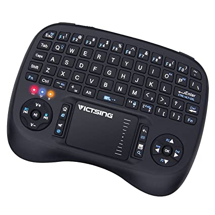 d57b88d4ee9 VicTsing 2.4GHz Mini Wireless Keyboard with Touchpad Mouse Below Designed,  Long Battery Life,
