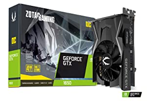 ZOTAC Gaming GeForce GTX 1650 OC 4GB GDDR5 128-Bit Gaming Graphics Card, Super Compact, ZT-T16500F-10L