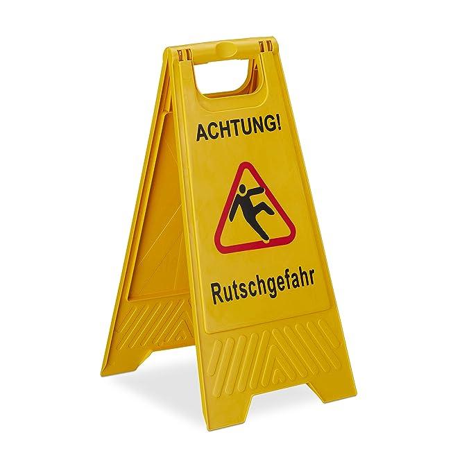 Relaxdays - Letrero de Advertencia de Peligro de resbalón ...