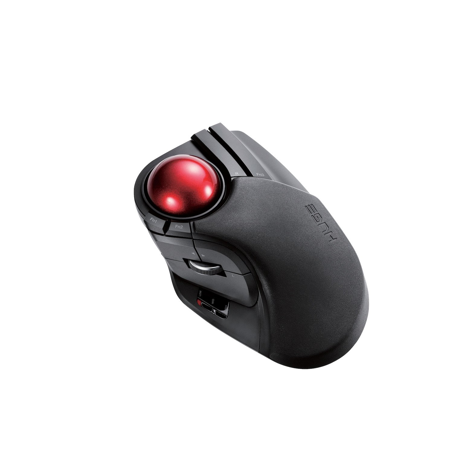 ELECOM Trackball Mouse M-DPT1MRXBK, Wired, Wireless, and Bluetooth, Gaming, High-Performance Ruby Ball, Advanced Responsiveness, 8 Mappable Buttons, Smooth Scrolling, Extra Large, DEFT PRO, Black Elecom Japan (PC)