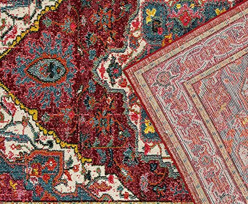 514 Red Bohemian 5 x 7 Area Rug Carpet