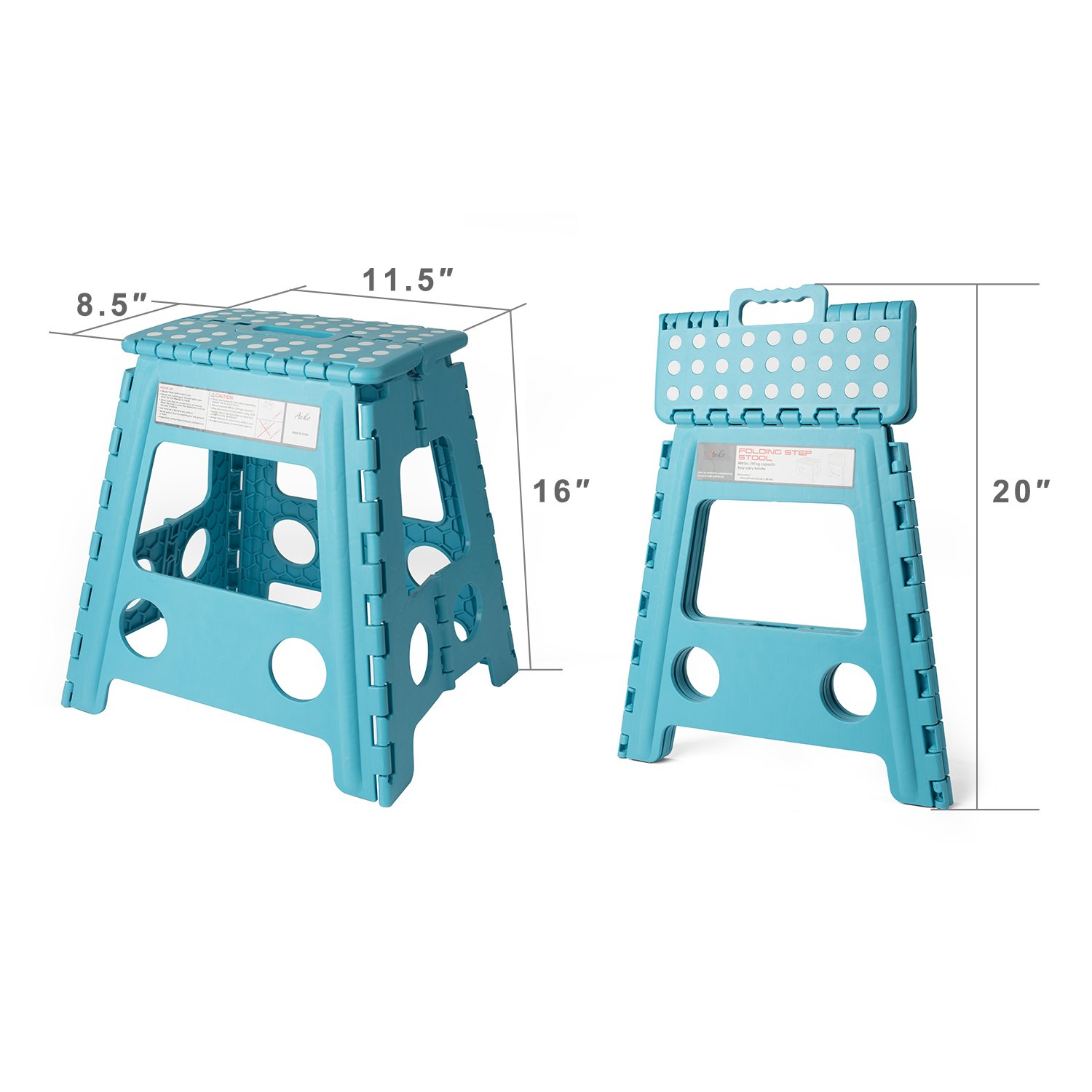 Amazon.com: Acko 16 Inches Super Strong Folding Step Stool for ...