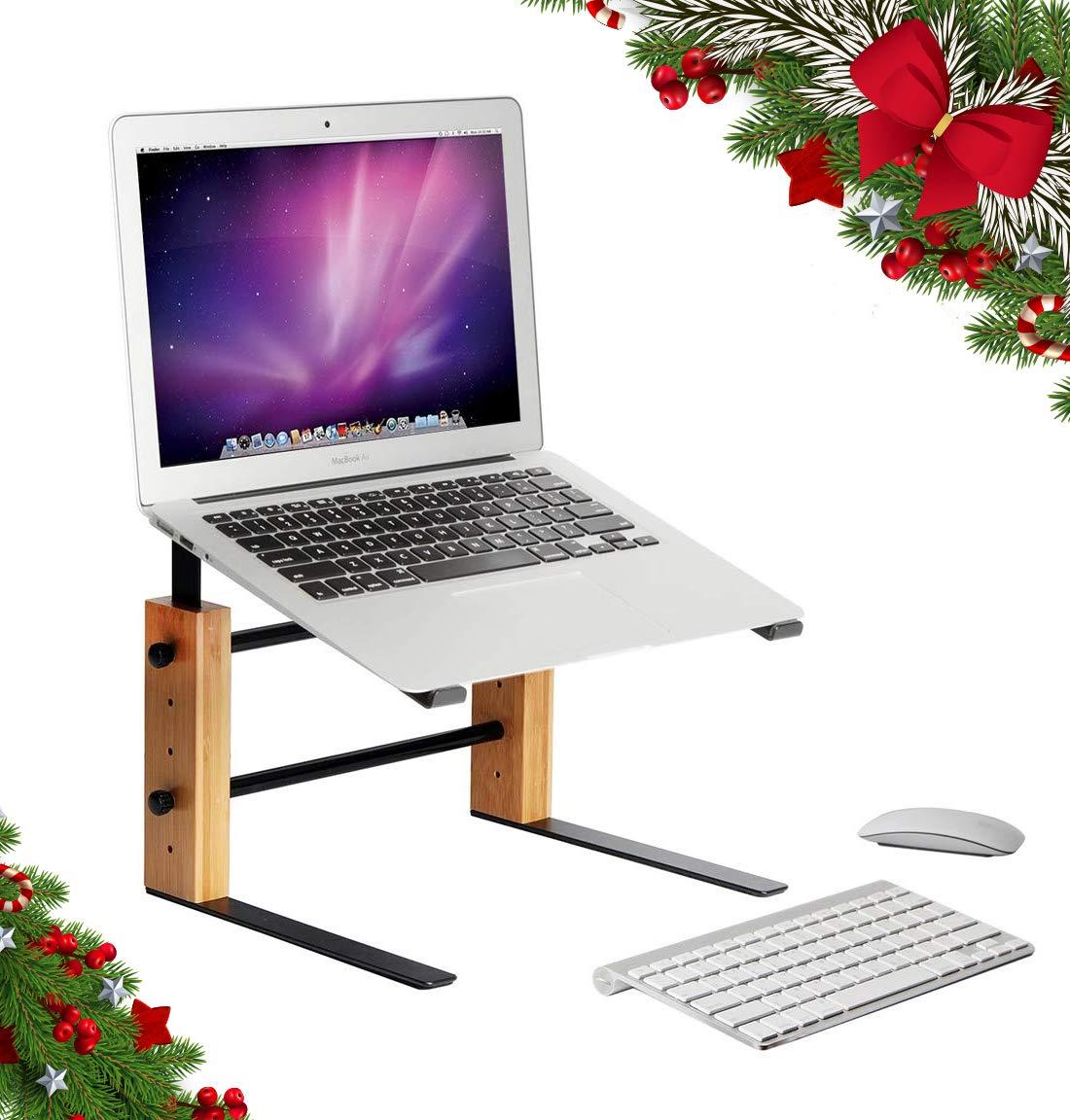 JackCubeDesign Laptop Computer Stand Adjustable Notebook Riser Holder Elevator Bamboo(11.41(Wide) x 9.44 inches) – :MK256A