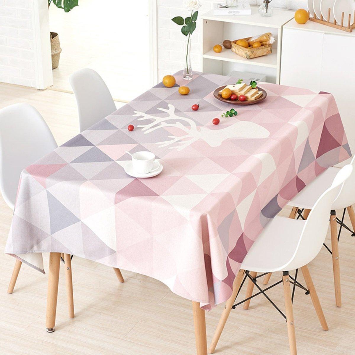 C 110170cm (43.366.9in) TAO NAPPES Tissu Coureurs Table à Thé Tissu Coton Nappe Rectangulaire Cuisine Maison Maison Nappe Décor à La Maison Bar Café Usure Résistant (Couleur   E, Taille   110  170cm (43.3  66.9in)