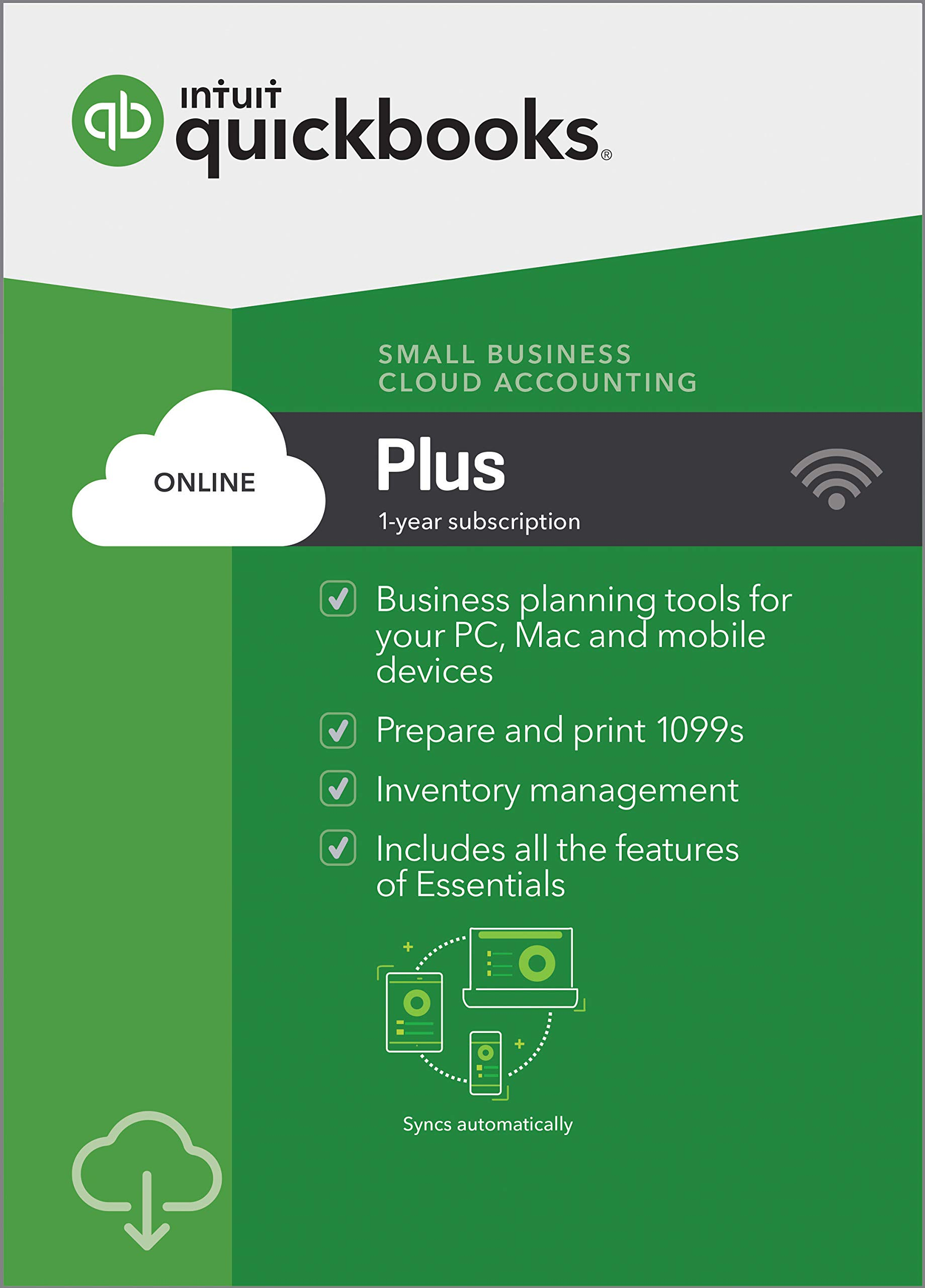 QuickBooks Online Plus 2019, 1 Year Subscription [PC/Mac Online Code] [PC Download] by Intuit