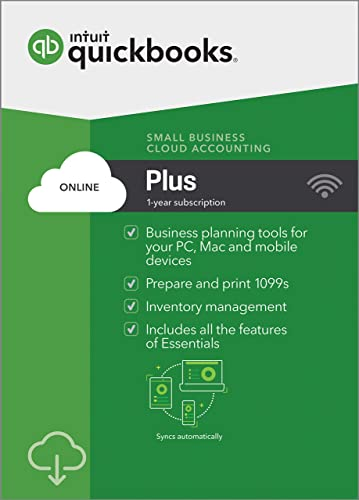 QuickBooks Online Plus 2019, 1 Year Subscription [PC/Mac Online Code] [PC  Download]