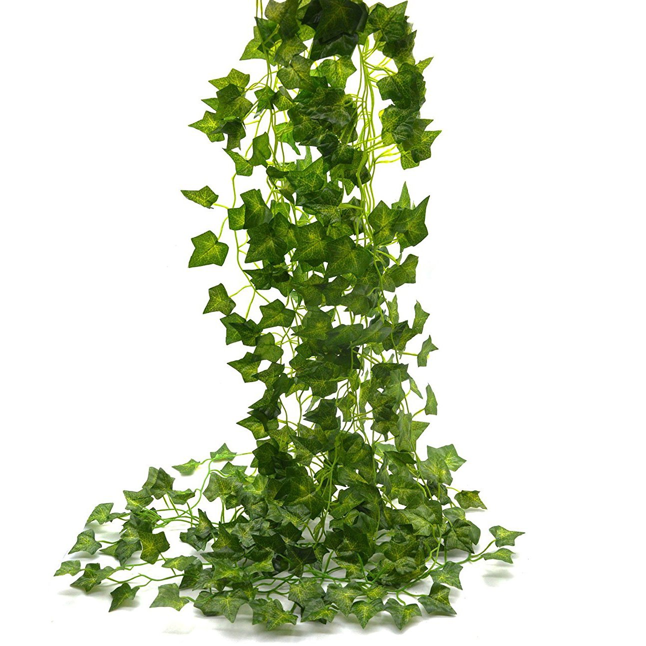 Beebel Ivy Leaves 85Ft 12 strands Artificial Fake Leaves Hanging Vines Plant Leaves Garland Home Garden Poison Ivy Costume