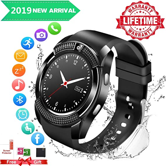 Fswatch Smart Watch,Smartwatch for Android Phones, Bluetooth Smart Watches Touchscreen with Camera Smart Watch (Smartwatch-822-5) (SmartWatch4)