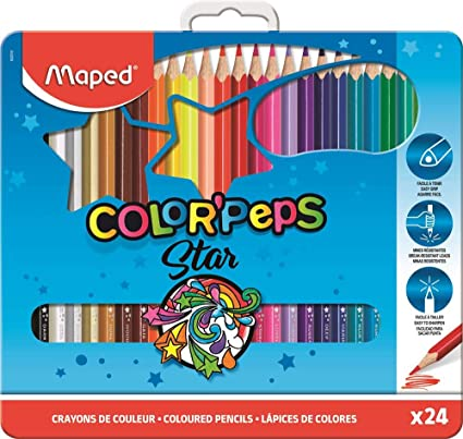 Maped ColorPeps 24 lápices de colores - madera. Multicolor ...