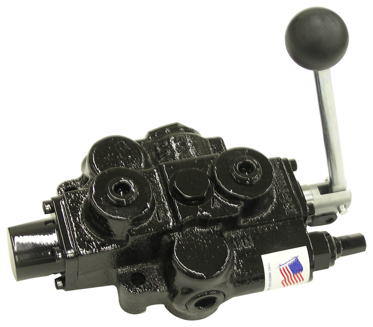Prince RD512CB5A4B1 Directional Control Valve, Single Spool, 4 Ways, 3 Positions, Tandem Center, 3 Position Detent (no centering spring), Cast Iron, 3000 psi, Lever Handle, 30 gpm, In/Out: 3/4'' NPTF, Work 1/2'' NPTF