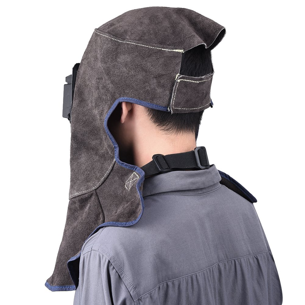 TOOLTOO Leather Welding Hood - 3 in 1 Welding Helmet Face Mask by TOOLTOO (Image #5)