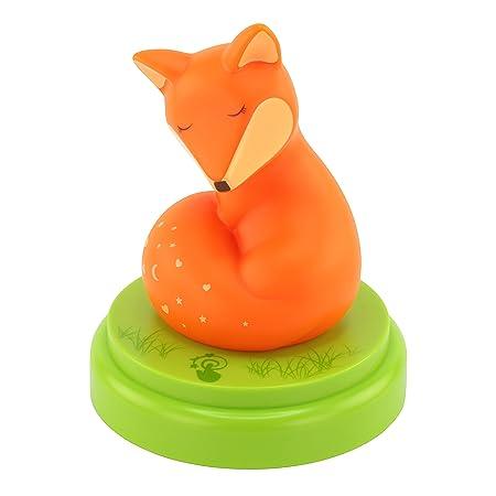 ANSMANN Nachtlicht Fuchs - Süße Einschlafhilfe mit Touch Sensor & Timer - LED Nachtlicht für Baby & Kind ideal als Schlummerl