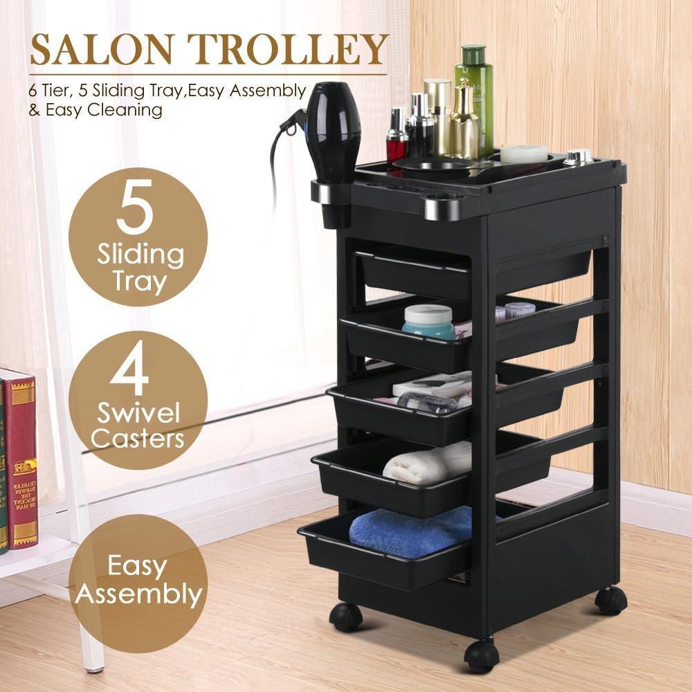 Topeakmart Rolling Salon Trolley Cart Hairdressing Storage Hair Tray Dryer Holder TP-salon trolley cart-1646