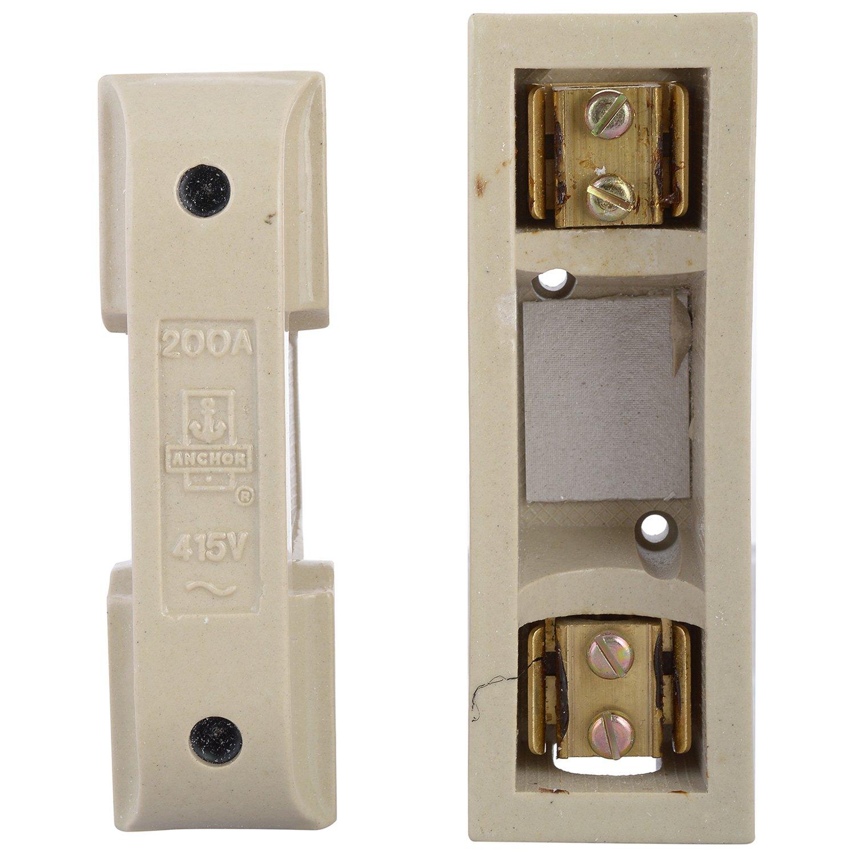 Anchor 9480 Porcelain Fuse Unit Pilot 200 Amp 415 V Ivory Amazon Box Home Improvement