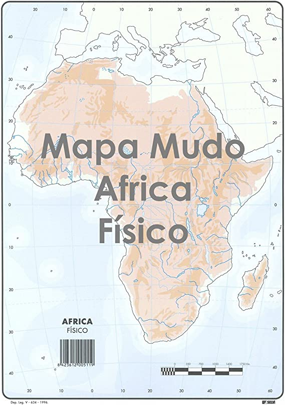 Mapa Mudo SELVI Color Din-A4 África Físico, Caja x50: Amazon.es: Oficina y papelería