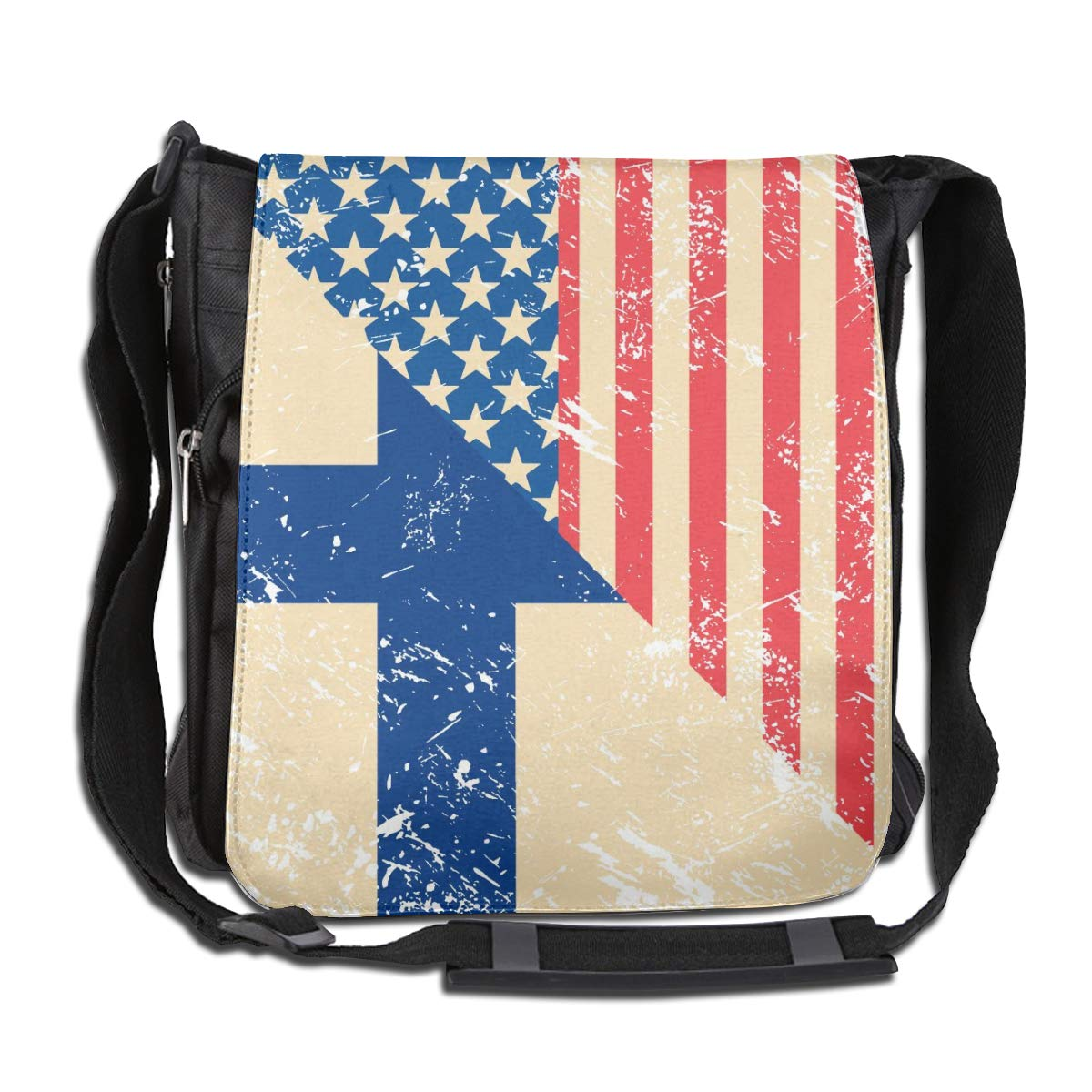 Unisex Casual Satchel Messenger Bags American And Finland Retro Flag Crossbody Shoulder Bag Traveling Bag For School//Work//Trips