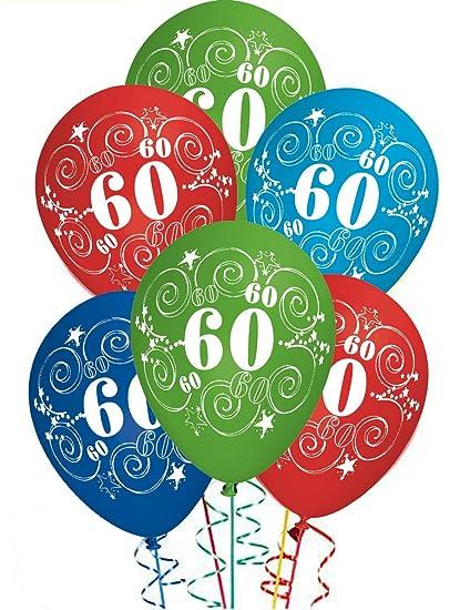 Auguri Buon Compleanno 60 Anni.Ocballoons Palloncini Compleanno 60 Anni Addobbi E Decorazioni Per Feste Party Confezione 20pz