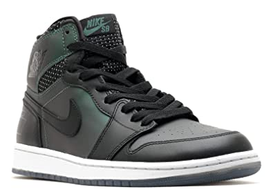 Nike Mens Jordan 1 SB QS Black/Black-Silver Leather Skateboarding Size 8
