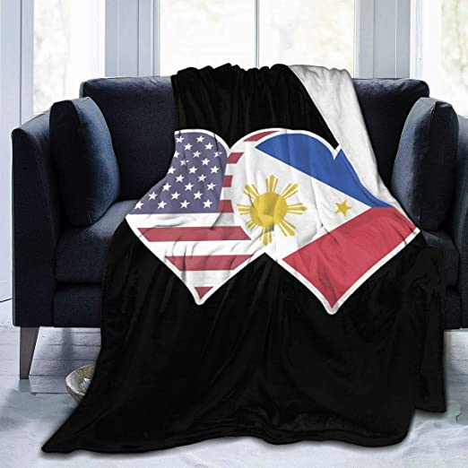 80-inches x 50-inches Fuzzy FlagsTM Philippines Flag Fleece Blanket Oversized Travel Throw Cover